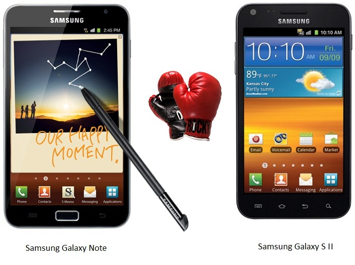 Samsung Galaxy S II Vs Galaxy Note