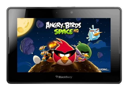 Angry Birds Space on BB Playbook