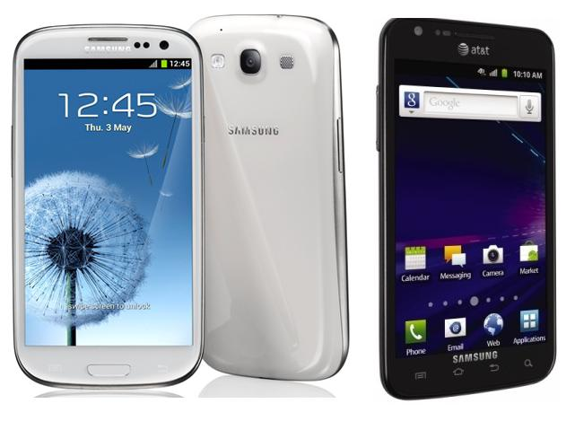 Galaxy S3 vs S2 Skyrocket